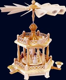 Glaesser - Pyramid - 1 Tier, natural wood tones, Barock fence