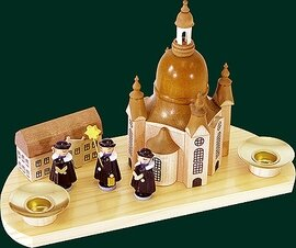 Glaesser Candle Holder-Church of our Lady Dresden with boys Choir
