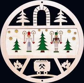 Glaesser Window Decoration - Angels and Miners, Diameter: 15 cm