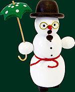 Glaesser Incense Smoker - Snowman with umbrella