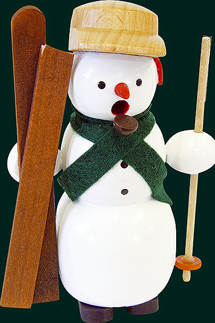 Glaesser Incense Smoker - Snowman with skies