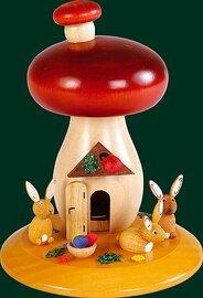Glaesser Incense Smoker - Mushroom with rabbits