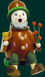 Glaesser Incense Smoker - Sitting Goblin with flower