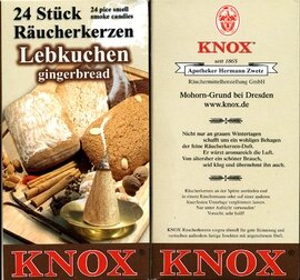 KNOX Incense Cones, Gingerbread (Large)
