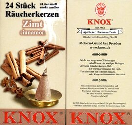 KNOX Incense Cones, Cinnamon (Large)