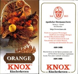 KNOX Incense Cones, Orange (Large)