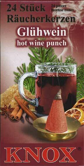 KNOX Incense Cones,  Hot Wine Punch Aroma (Large)