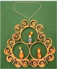 Johanness Heidrich Window Decoration 3 children carrying lanterns