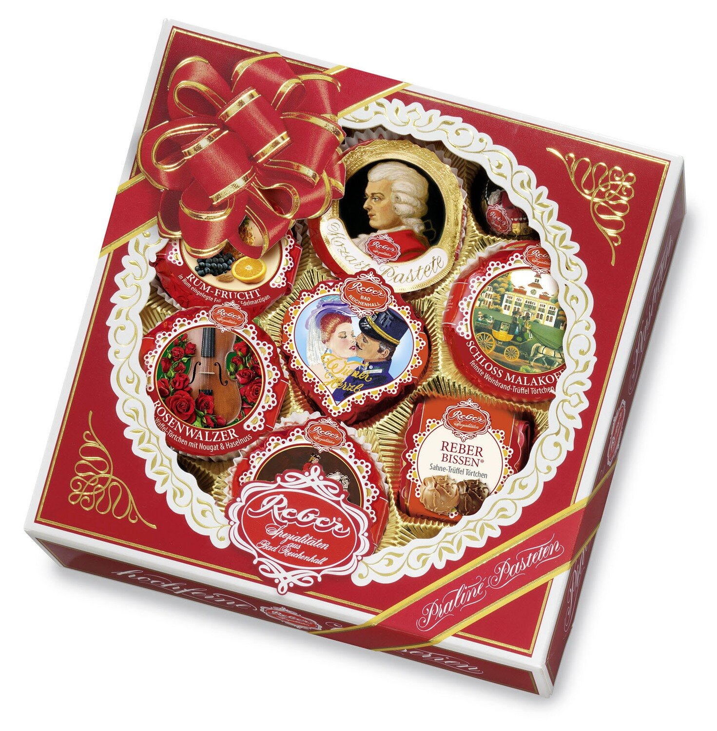 Reber Marzipan Square Specialty Gift Box, 340g/12.1 Oz