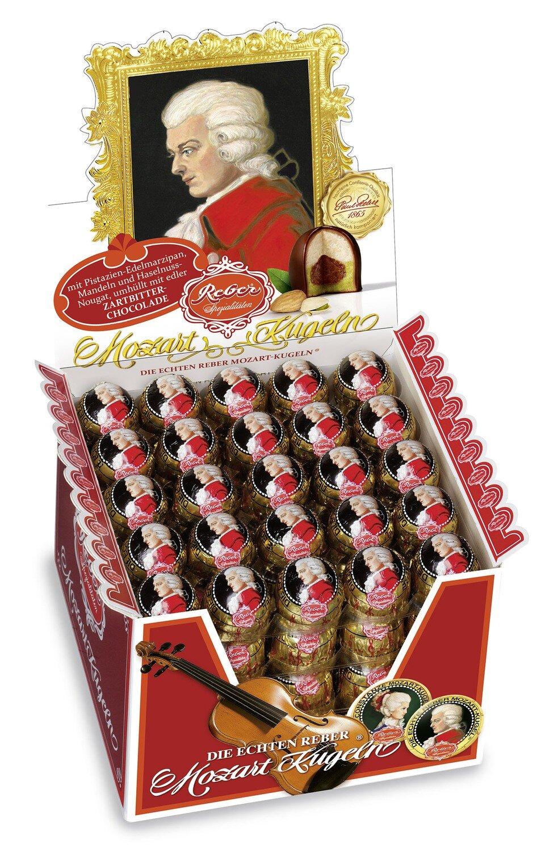 Die echte Reber Mozart-Kugel lose, Zartbitter-Chocolade, 100 pcs, 2kg / 71.11 Oz