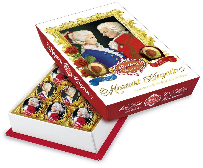 Mozart-Barock« 15er-Packung, Zartbitter- und Alpenmilch Chocolade
