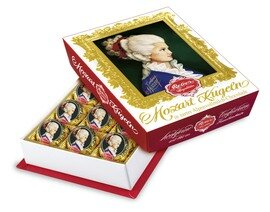 Mozart-Barock« 12er-Packung, Alpenmilch Chocolade