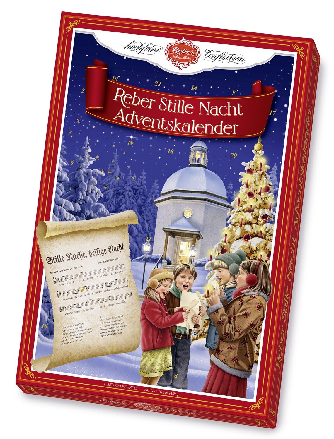 Reber-Adventskalender Stille Nacht , 459g/16.3 Oz