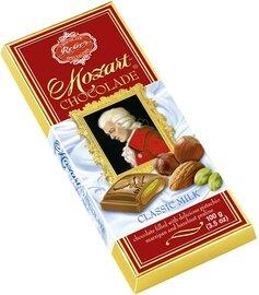 Reber Marzipan Mozart Bar - Milk Chocolate - 100g/3.5 oz