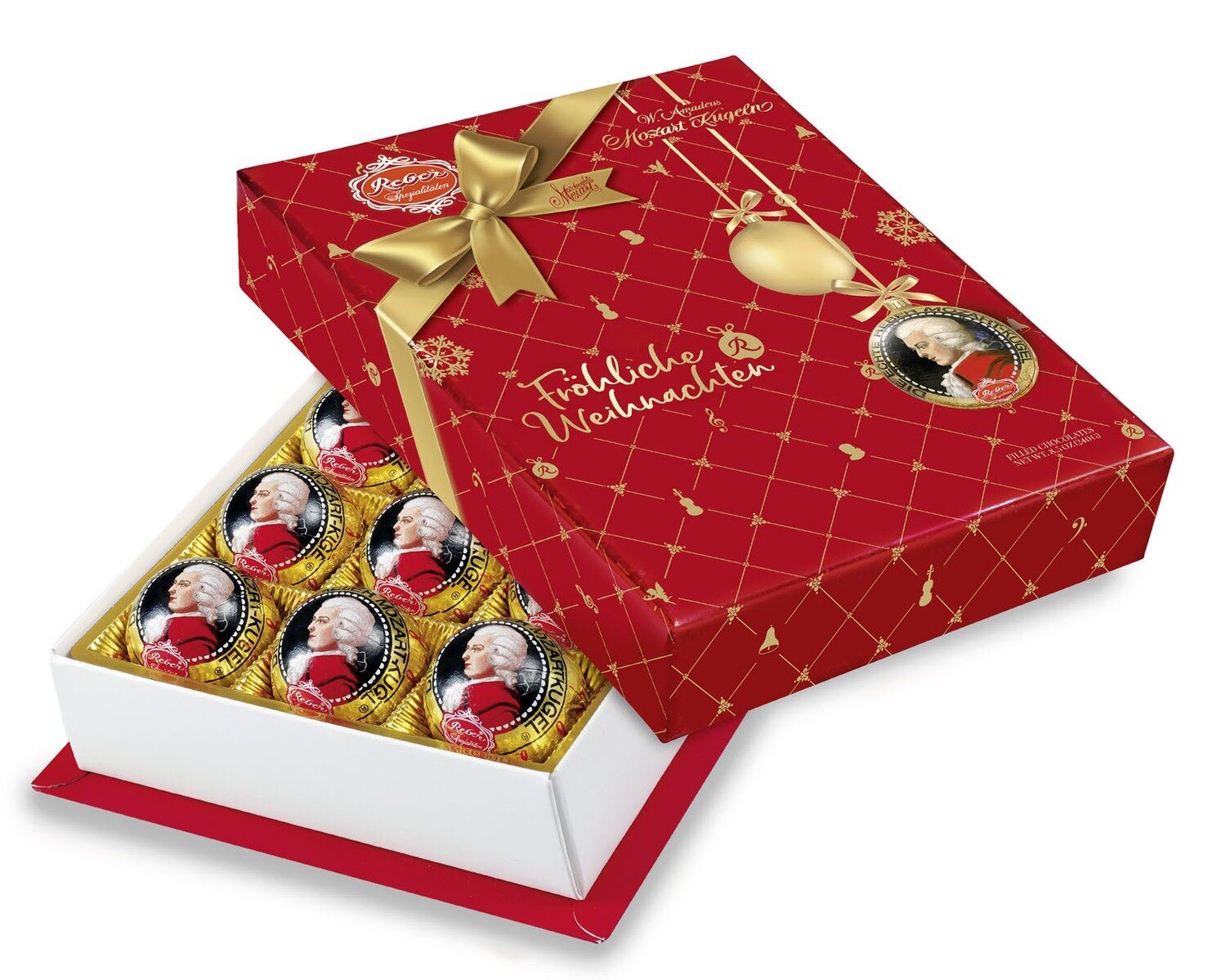 Mozart-Barock« 12er-Packung, Zartbitter-Chocolade in Christmas Decor