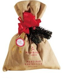 Niederegger Marzipan Potatoes in a decorated cloth bag -  125 g/4.44 oz