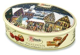 Asbach Brandy Oval Gift Tin