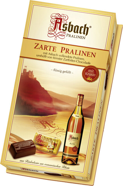 Asbach Cognac Filled Large Squares Gift Box