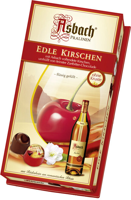 Asbach Cognac Marinated Cherries - Large Gift Box