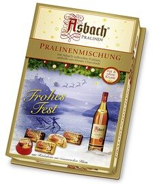 Asbach Assorted Brandy Chocolates with Christmas Decor - 250g/8.8 Oz
