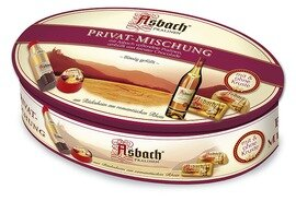 Asbach Pralines in a Schmuckdose - Privat Mischung  - 180g/6.4 Oz