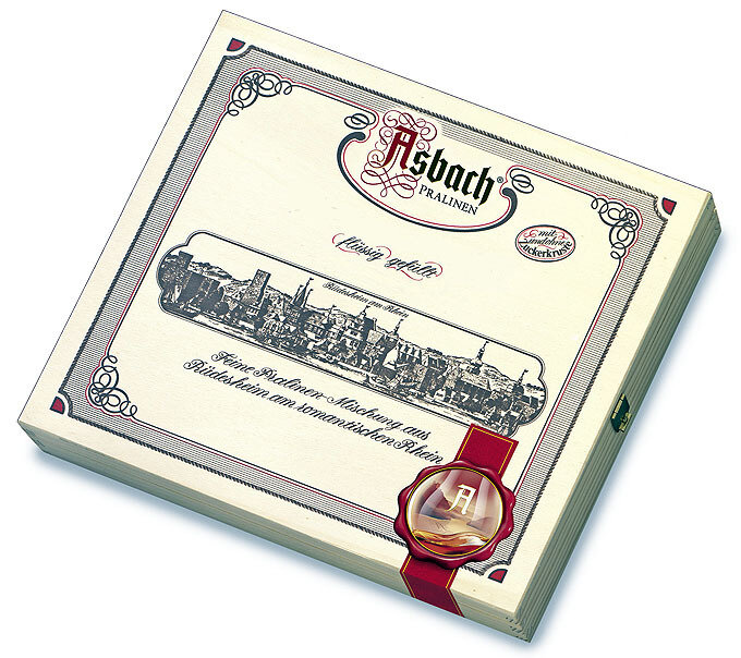 Asbach Assorted Brandy Chocolates in Luxury Wooden Gift Box