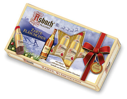 Asbach Santa Bottle in a Windows Display Gift Box