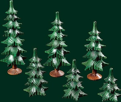 4 - tier Tree, No trunk - 7 cm/2.76 inches