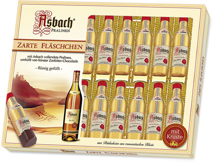 20 Asbach Cognac Bottles in a Windows Display Box