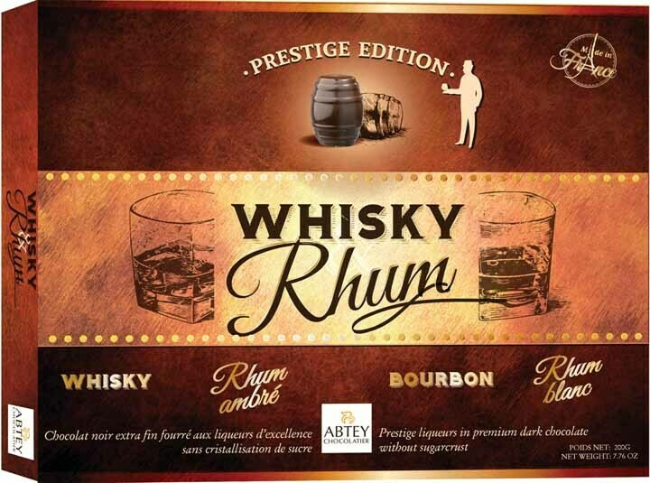 Abtey Prestige Whiskey & Rum - 20 Piece Barrel Asst. - 200g/7.05 Oz