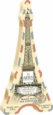 Abtey Tour Eiffel 10 Pc Chocolate Pralines Tin  - 380g / 4.58 Oz