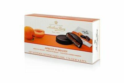 Anthon Berg - Marzipan Apricot in Brandy Liqueur  - 220g/7.82 Oz