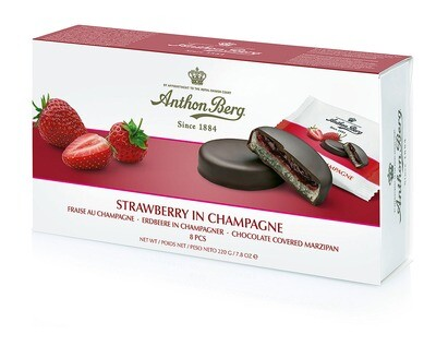 Anthon Berg - Marzipan Strawberry in Sparkling Wine - 220g/7.82 Oz