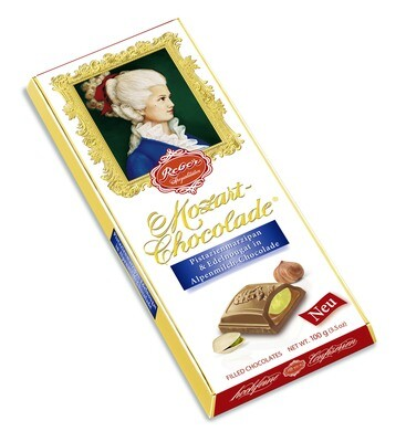 Reber Marzipan - Mozart-Alpenvollmich Chocolade, 100g/3.5 Oz