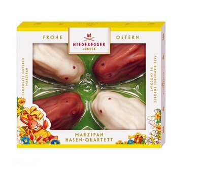 Niederegger Chocolate Covered Marzipan Bunnies - 100g/3.5 oz