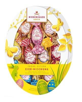 Niederegger Marzipan Egg Asst - Oval Easter Egg Pkg-150 g/5.3 oz