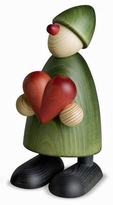 Bjoern Koehler Kunsthandwerk - Gratulant Theo with heart