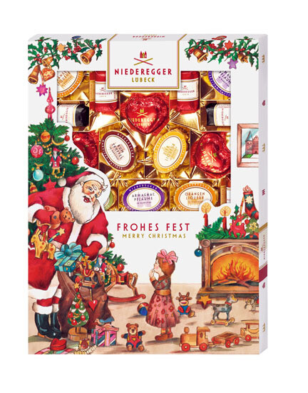 Niederegger Marzipanerie  in a Christmas Sleeve - 400g/14.0 oz
