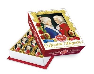 Mozart-Barock« 12er-Packung, Zartbitter und  Alpenmilch Chocolade