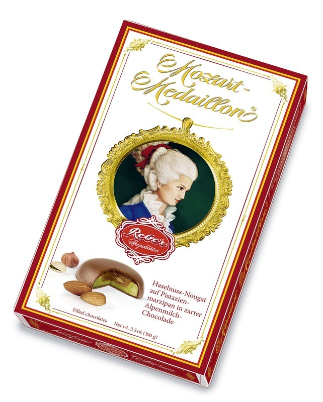 Mozart-Medaillon, 10er-Packung, Alpenmilch-Chocolade, 100g/3.5 Oz