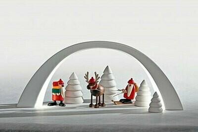 Bjoern Koehler LED Candle Arch, lime wood, white