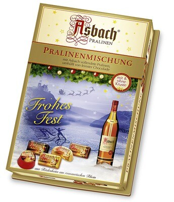 Asbach Assorted Brandy Chocolates with Christmas Decor - 250g/8.8 Oz