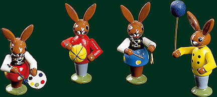 Richard Glaesser - Easter Bunnies playing