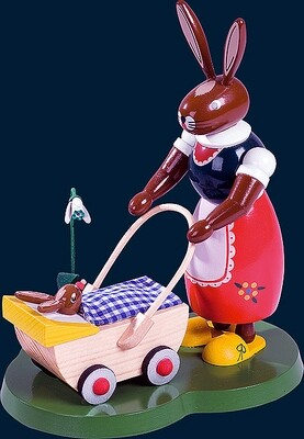Richard Glaesser - Easter-Bunny with babby carriage