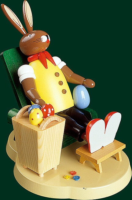 Richard Glaesser - Easter-Bunny relaxing in chair