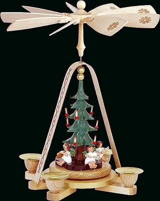 Glaesser - Pyramid Angel with Christmas Tree