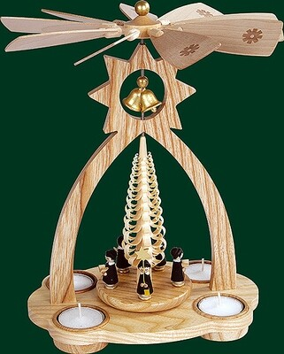 Glaesser - 'Bell Shaped' pyramid for tea lights - Choir-boys
