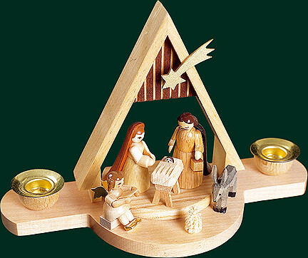 Glaesser Candle Holder - Birth Scene Jesus Christ 4