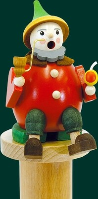 Glaesser Incense Smoker - Sitting Goblin with apple