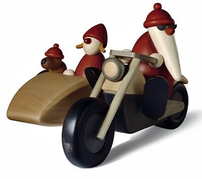 Bjoern Koehler Kunsthandwerk - Santa Family Outing on Motorcycle